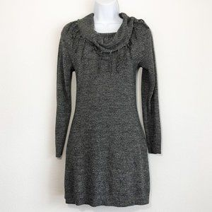 BCX Women's Scarf Neck Sweater Dress Gray Small